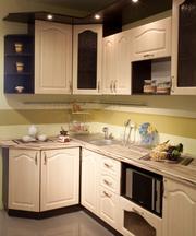 Кухни с фасадами из профиля AGT, МДФ ПВХ пленка, краска, шпон, пластик, дерево