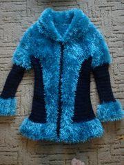 Теплая вязанная кофта (кардиган) для девочки